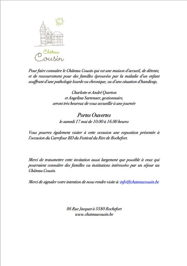 Porte ouverte Chateau cousin 2014