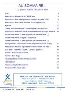 X Presse 100 - Sommaire
