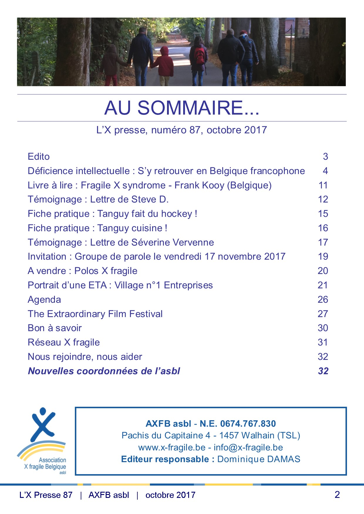 X Presse 87 - Sommaire