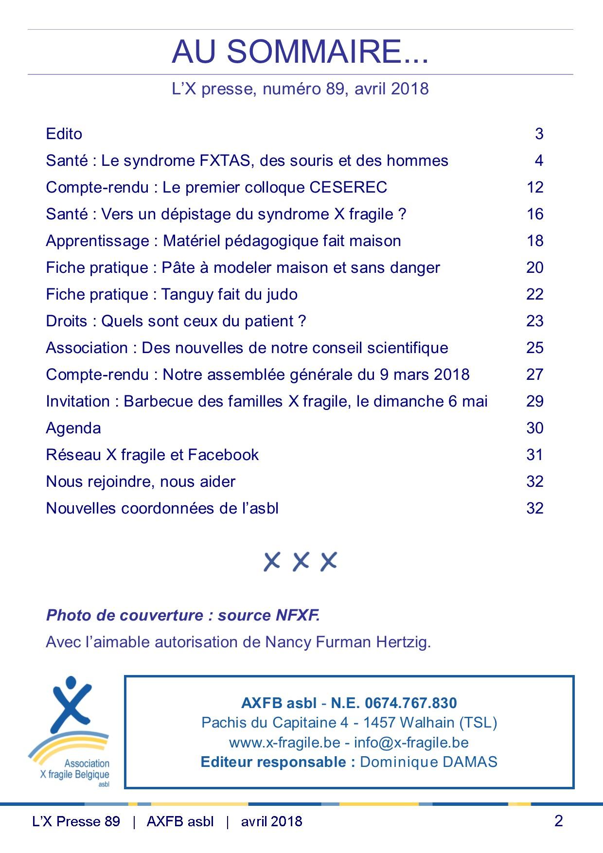 X Presse 89 - Sommaire