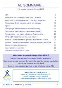 X Presse 93 - Sommaire