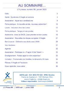 X Presse 96 - Sommaire