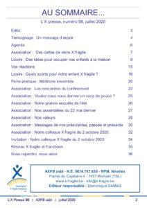 X Presse 98 - Sommaire