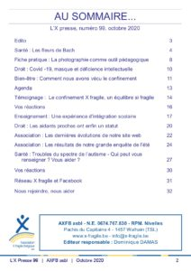 X Presse 99 - Sommaire